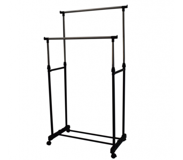HomeLine Pojizdný stojan na šaty Double 2-75x43x160 cm