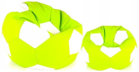 Aga Sedací pytel BALL XXXL Bílá - Světle zelená