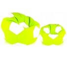 Aga Sedací vak BALL Farba: Biela - Svetlo zelená