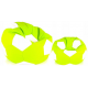 Aga Sedací pytel BALL XXXL Bílá - Světle zelená + podnožník