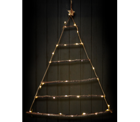 Linder Exclusiv Svietiace vianočný stromček na zavesenie 40 LED Teplá biela
