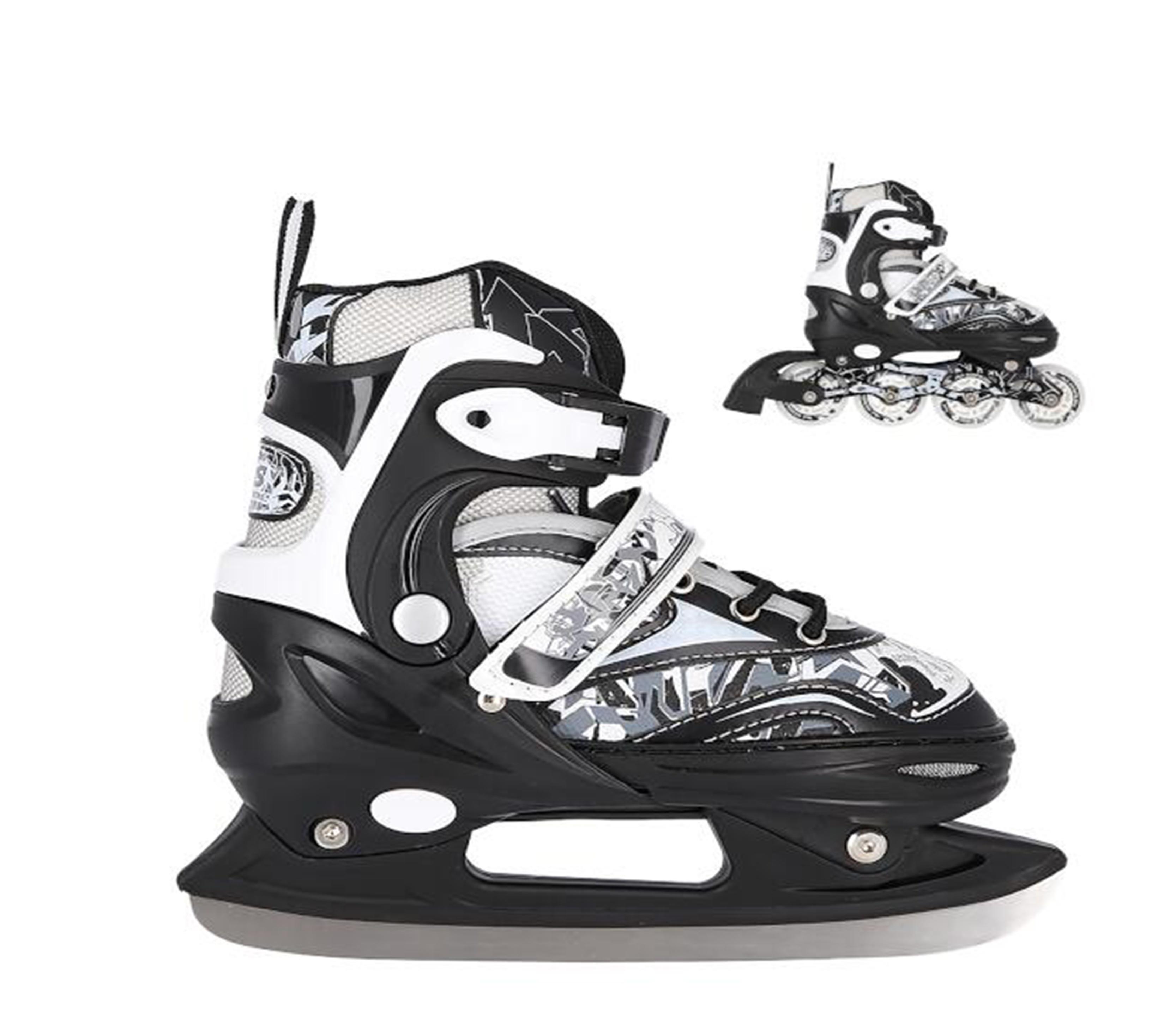 Nils Extreme Detské korčule 2v1 NH10927 Black