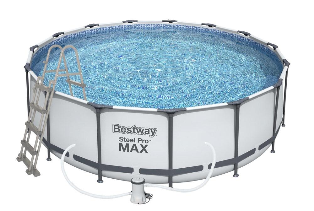 Bestway Steel Pro Frame 4,57 x 1,22 m 56438 + Kartušová filtrace