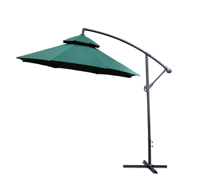 Aga Záhradný slnečník konzolový EXCLUSIV CUBE 250 cm Dark Green