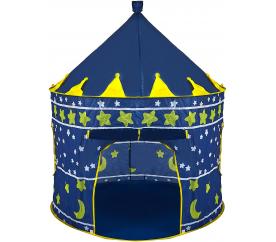 Aga4Kids Detský hrací stan Castle Dark Blue