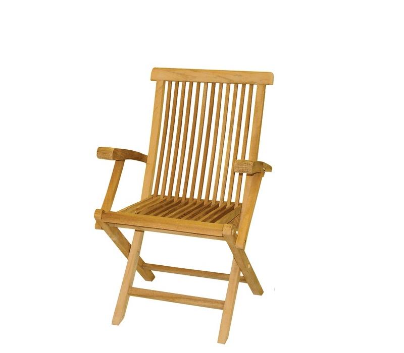 Linder Exclusiv Skladacia stolička s opierkou DF09 58x56x89 cm