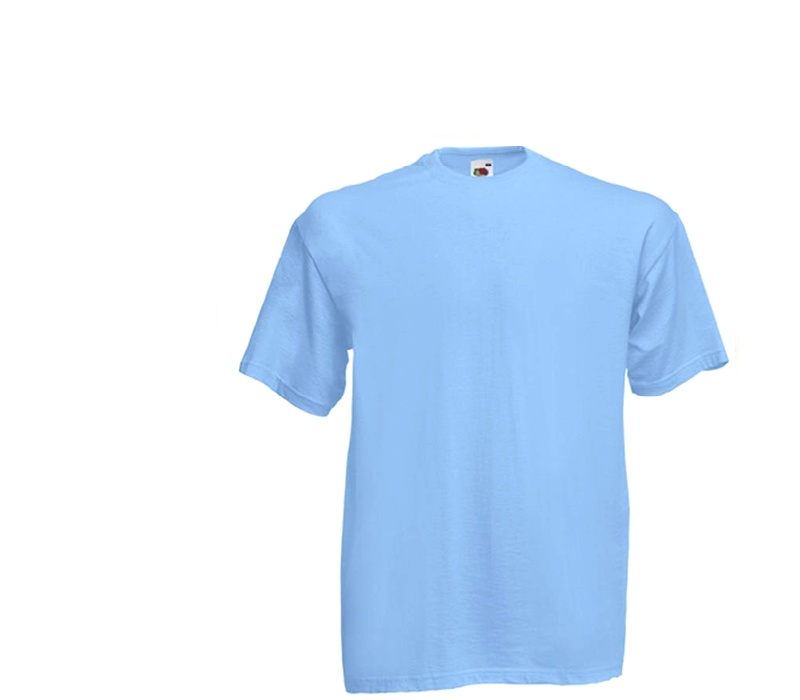 Fruit Of The Loom Tričko VALUEWEIGHT T Sky Blue