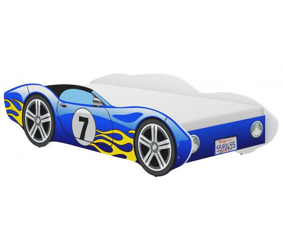 Wooden Toys Dětská postel Corvette 140x70 cm Blue