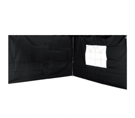 Linder Exclusiv oldalfal a pavilonhoz ALU 3x3 m PO2466PU Black
