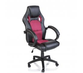 Tresko Kancelářské křeslo Racing Black - Pink