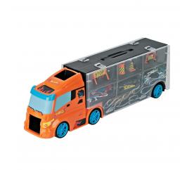 Darpeje Transportér autó 40 cm + 3 autó Hot Wheels