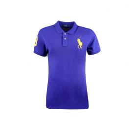 Ralph Lauren Koszulka Polo SKINNY-FIT Big Pony Sax