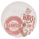 Talíř bambusové vlákno 25 cm SUMMER BBQ červený - ProGarden