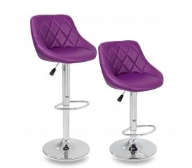 Tresko 2x Barová židle Purple