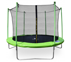 aGa SPORT FIT Trampolina ogrodowa 250cm 8ft z siatką wewnętrzną - Light Green