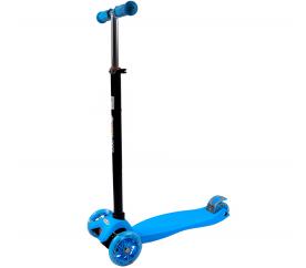 Bobo-San gyerek háromkerekü roller LED kerekekkel Blue