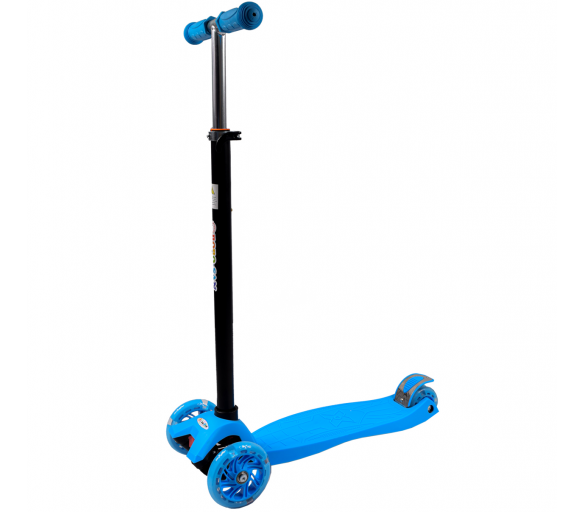 Bobo-San Dětská třikolová koloběžka s LED kolečky Blue