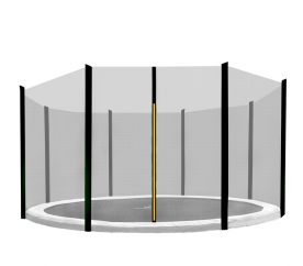 AGA 366 cm (12 ft) 8 rudas trambulin védőháló Black net/Black