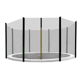 Aga Siatka do trampoliny 366cm 12ft zewnętrzna na 8 słupków Black net / Black