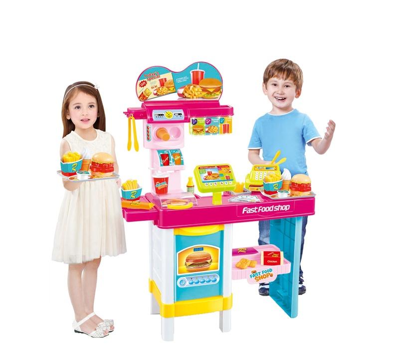 Aga4Kids Plastová kuchyňka FAST FOOD SHOP HM834898