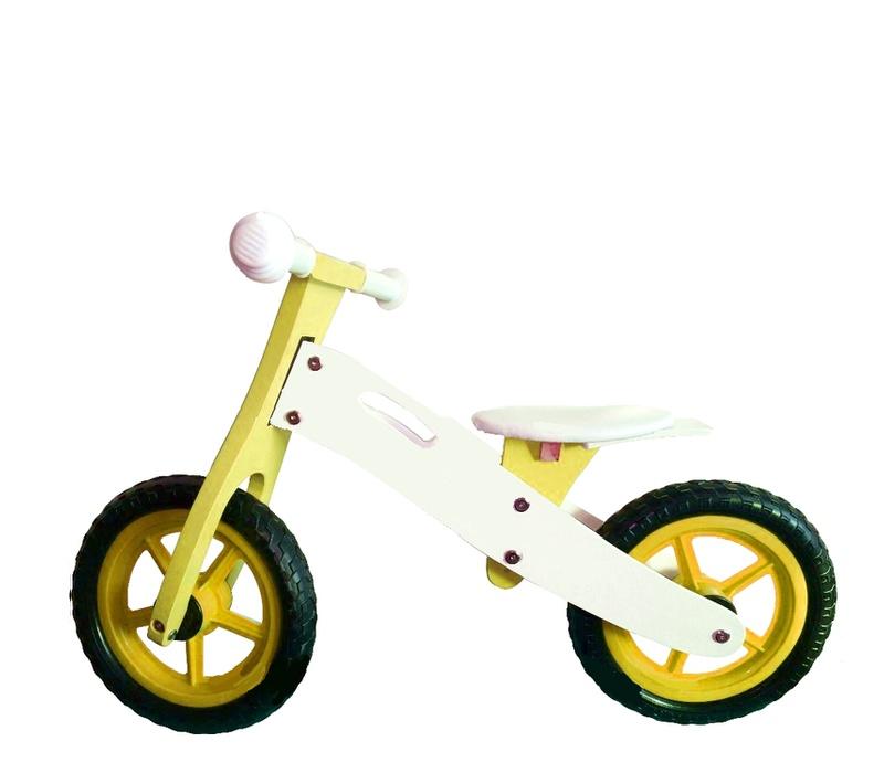 Wooden Toys Odrážedlo BASIC Yellow