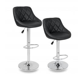Tresko 2x Barová židle Black