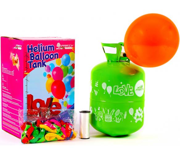 Aga4Kids Hélium do balónikov PARTY 10 MIX Green/Blue
