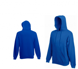 Mikina Fruit of the Loom HOODED SWEAT Royal Blue
