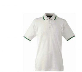 Fruit Of The Loom Tričko TIPPED POLO White Kelly Green