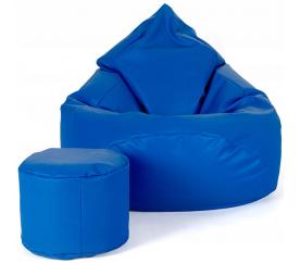 aGa Pufa sofa XXXL + podnóżek (Niebieski)