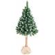 Aga Vánoční stromeček 220 cm s kmenem se šiškami
