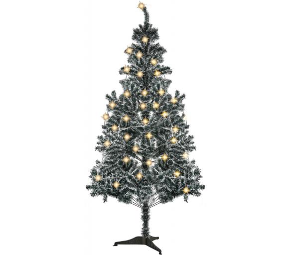 Aga Vánoční stromeček bílo - zelený 180 cm + Vánoční osvětlení zdarma