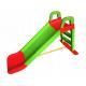 Aga4Kids Zjeżdżalnia z uchwytem 140 cm Zielono-czerwona