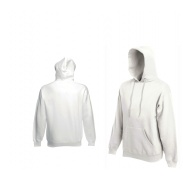 Fruit Of The Loom HOODED SWEAT White
