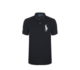 Ralph Lauren gyerek Polo trikó Black Big Pony White