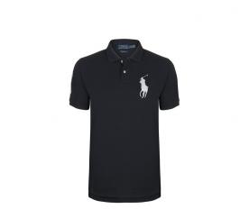 Ralph Lauren Dziecięca koszulka Polo Black Big Pony White