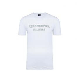 Aeronautica Militare Tričko ROUND-NECK PRINT 3-Pack X1402 White