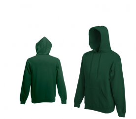 Fruit Of The Loom HOODED SWEAT Classic Olive pulóver
