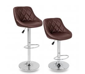 Tresko 2x Barová židle Brown