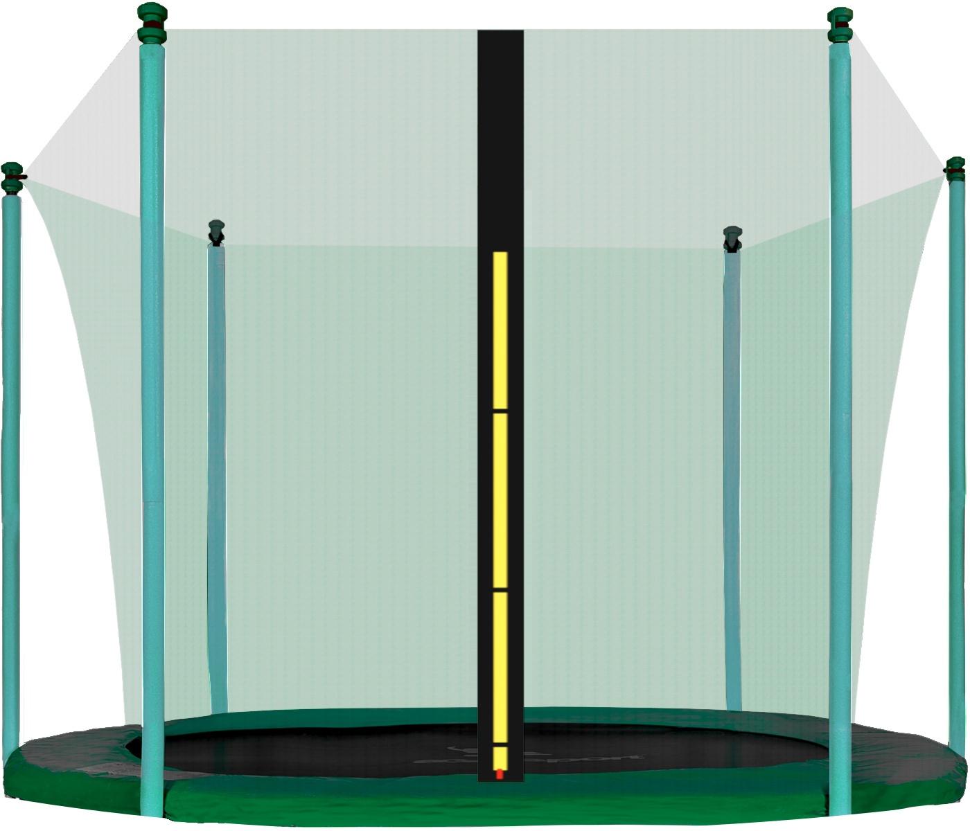 Aga Vnitřní ochranná síť 250 cm na 6 tyčí Green