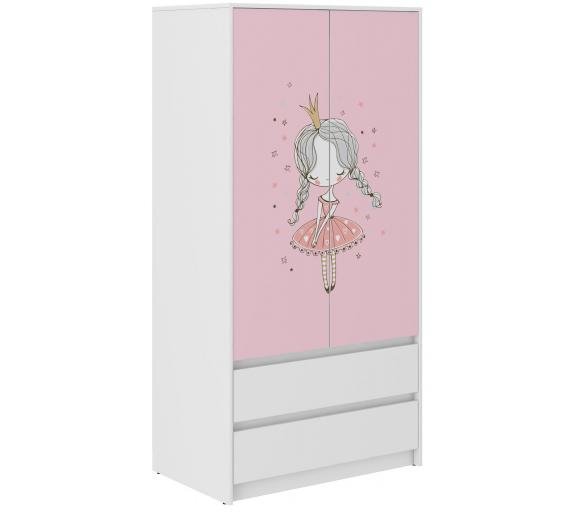 Wooden Toys Dětská šatní skříň Princess B-9