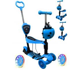 R-Sport Dětská třikolová koloběžka 5v1 s LED kolečky JR Modrá
