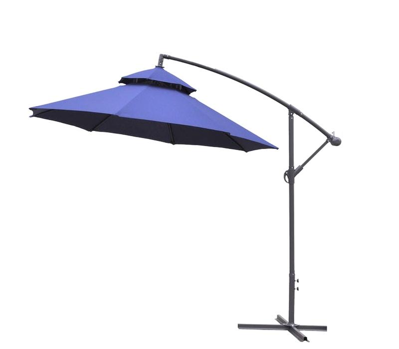 Aga Záhradný slnečník konzolový EXCLUSIV CUBE 250 cm Dark Blue