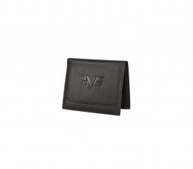 Versace Prestiżowy skórzany portfel marki 19V69 ITALIA - C185 Black