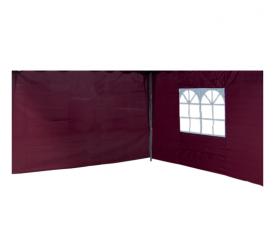 Linder Exclusiv oldalfal a pavilonhoz ALU 3x3 m PO2412 Burgundy