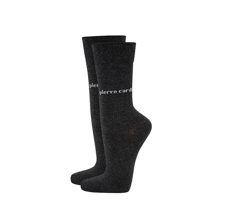 Pierre Cardin Ponožky 2 PACK Charcoal