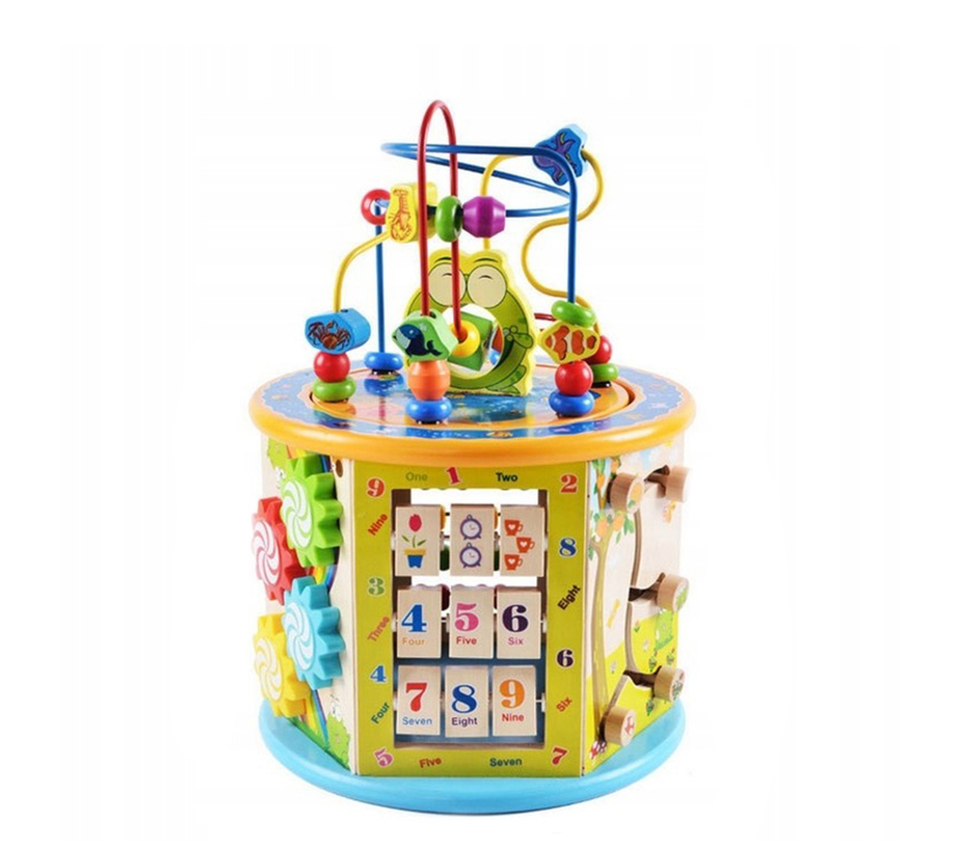 Wooden Toys Drevená edukačná kocka