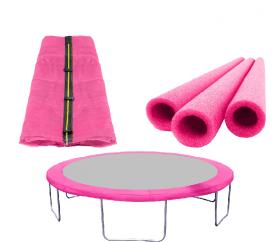 AGA Set FIT Pink Vnútorná ochranná sieť 305 cm na 6 tyčí + Kryt pružín + Penová ochrana