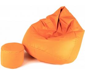 Aga ülőzsák XXXL + lábtartó világos narancssárga