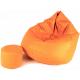 Aga Sedací vak XXXL + podnožník Světle oranžový